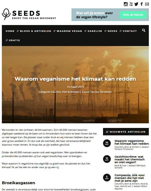 Seeds blog: Waarom veganisme het klimaat kan redden