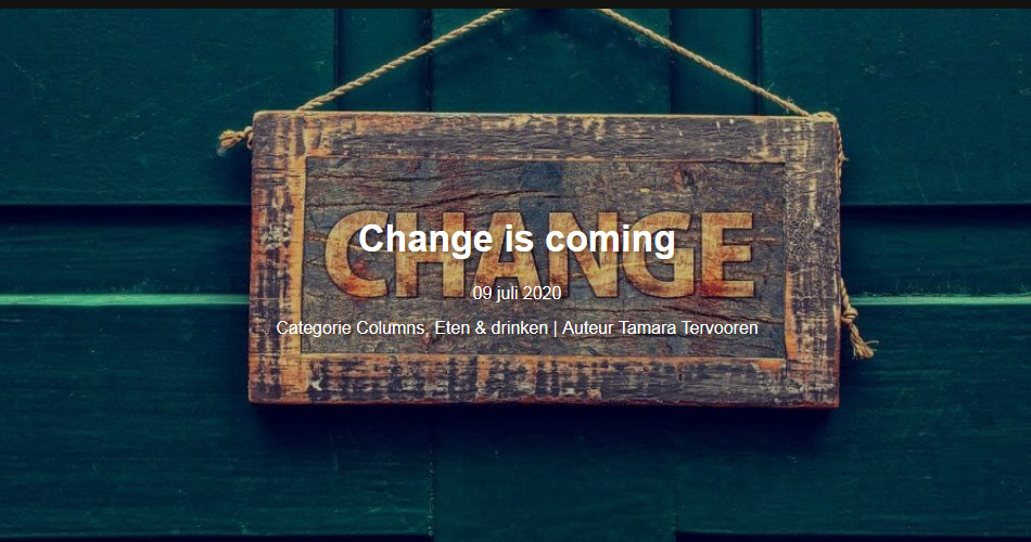 Seeds blog #20 – Change is coming