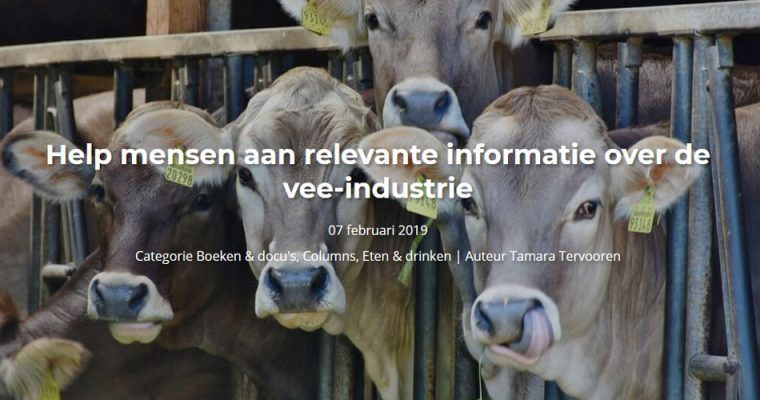 Seeds blog #5 – Help mensen aan relevante informatie over de vee-industrie