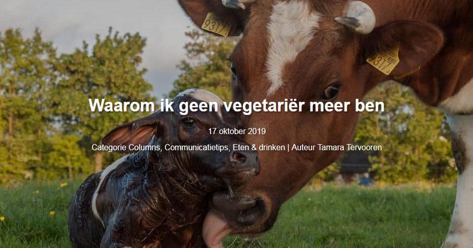 Waarom ik geen vegetariër meer ben
