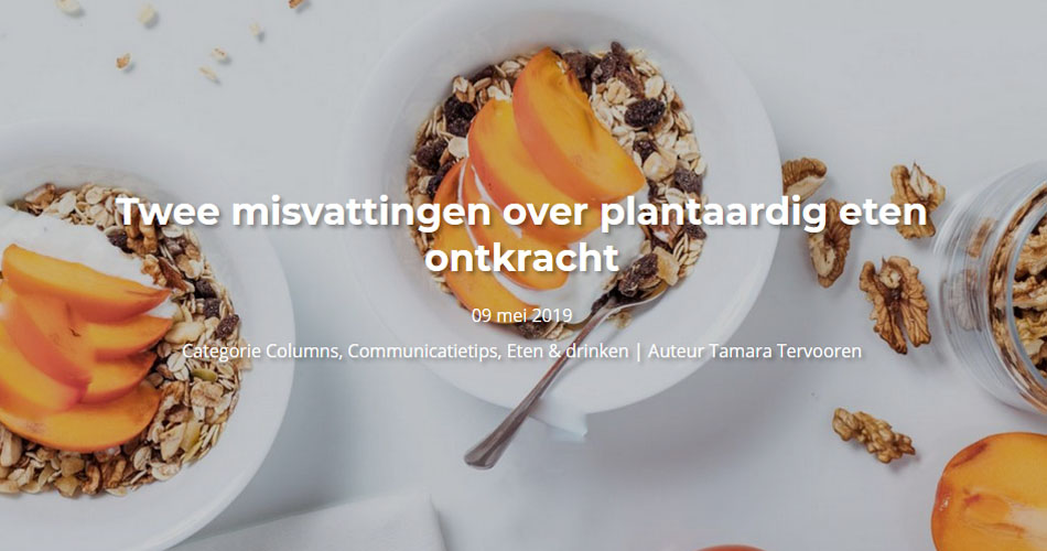 Seeds blog #8 – Twee misvattingen over plantaardig eten ontkracht